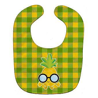 Carolines schatten BB8964BIB ananas gezicht met glazen Baby slabbetje