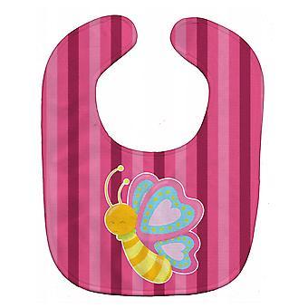 Carolines Treasures  BB9058BIB Butterfly Pink Baby Bib
