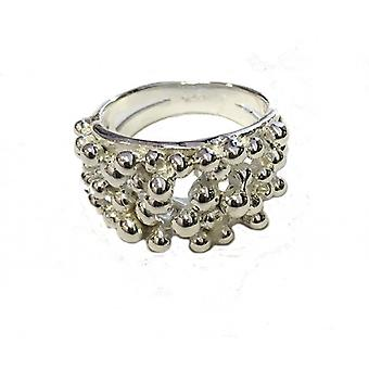 Cavendish French Sterling silver woven strand ring