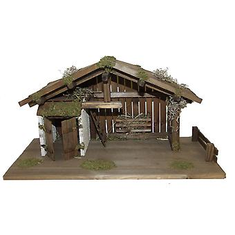 Nativity scene wood Nativity stable EPHRAIM XL for characters up to 15 cm