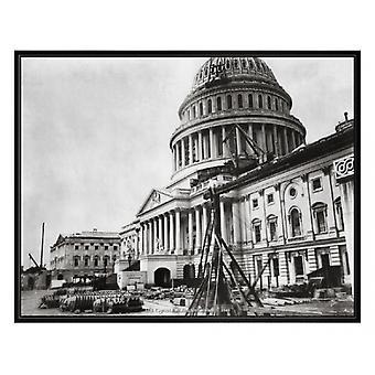 U.S. Capitol Building inachevé 1863 affiche imprimer (20 x 16)