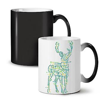 Computer Graphic Animal NEW Black Colour Changing Tea Coffee Ceramic Mug 11 oz | Wellcoda