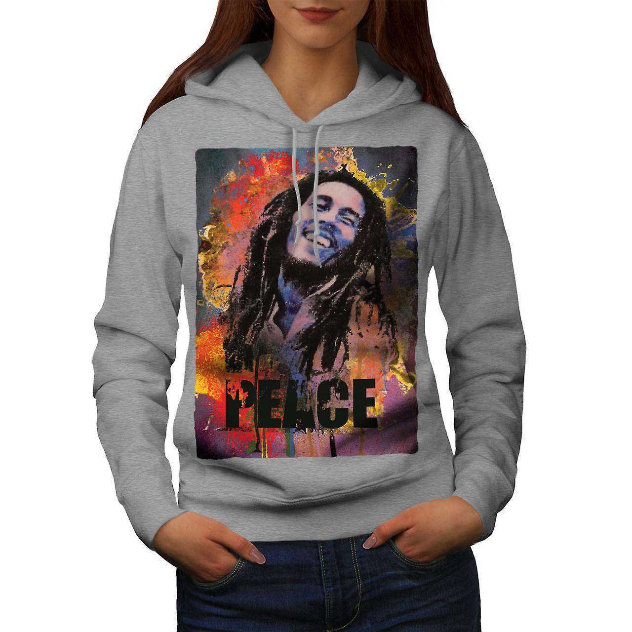 42 grisHoodie de femmes Rasta Bob Marley