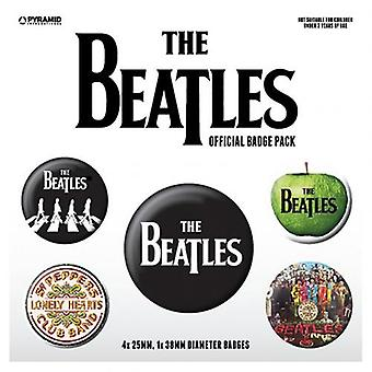 The Beatles Button Badge Set