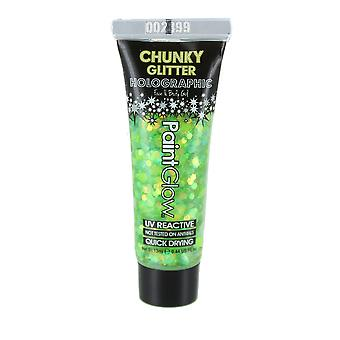 Paint Glow Holographic Chunky Glitter Face & Body Gel 13ml