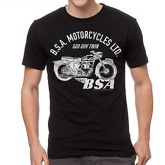 BSA motorcykler 500 OHV TWIN mænds sort T-shirt