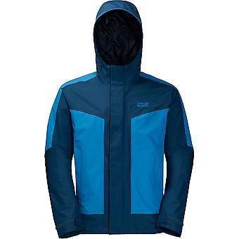 Jack Wolfskin Mens Venture Tour Waterproof Breathable Hooded Jacket