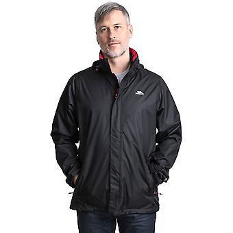 Trespass Mens Fraserii Hooded Waterproof Wicking Zip Jacket Coat