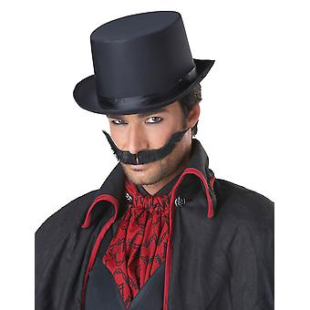 Dastardly Wacky Dick Black 1920s Men Costume Moustache