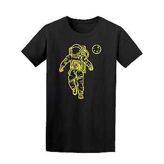 Bright Neon Yellow Astronaut Tee Men's -Image by Shutterstock