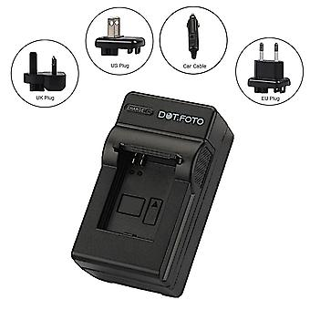 Dot.Foto Nytech BYD DM6331 Travel Battery Charger for Nytech DS-7210, DS-8210, DS-8310