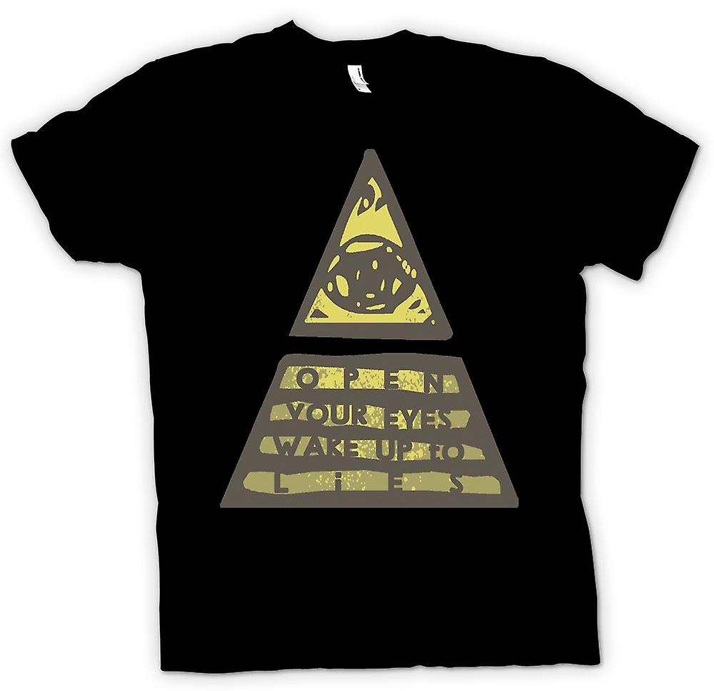 Hommes T-shirt - Wake Up Illuminati aux mensonges