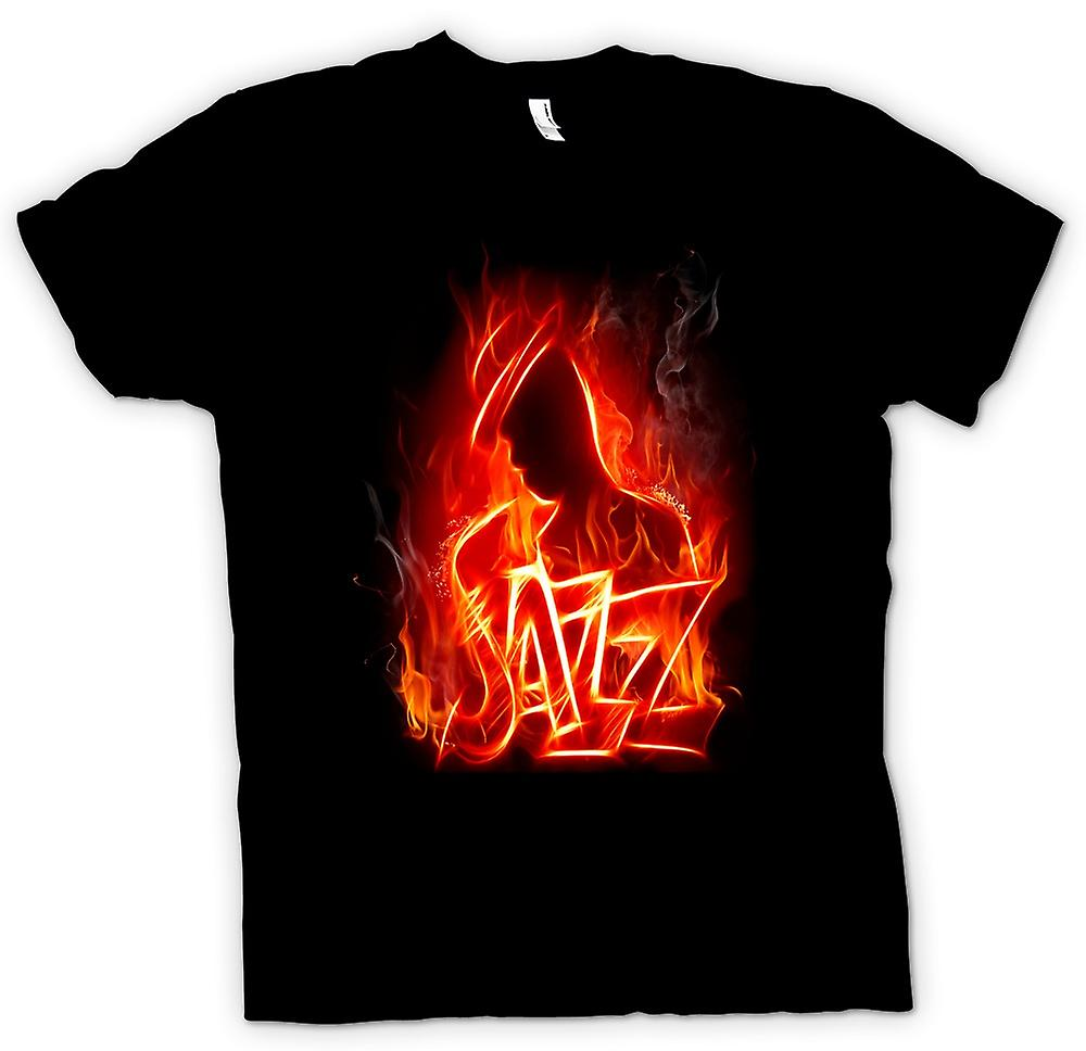 Kids T-shirt - Neon Jazz Design