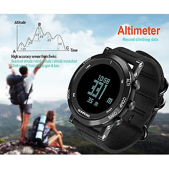 FR851B Sports Watch-Thermometer, Barometer, Altimeter, 5ATM Waterproof, EL backlight, Weather Forecast