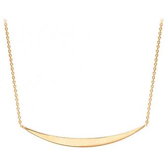 IBB London Curved Bar Adjustable Necklace - Rose Gold