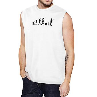 Evolution Zombie Tank Top Mens Graphic Muscle Top Zombie Lover Gift