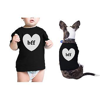 Bff ハーツ ペット赤ちゃん黒 t シャツ面白いマッチング t シャツ プレゼント