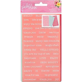 Tealightful Word Stickers 3/Pkg