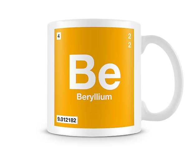 Element Symbol 004 Be - Beryllium Printed Mug
