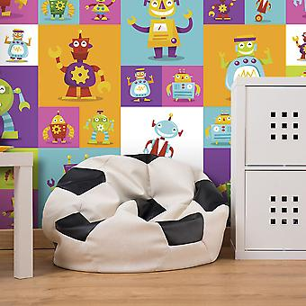 Wallpaper - Colorful Robots