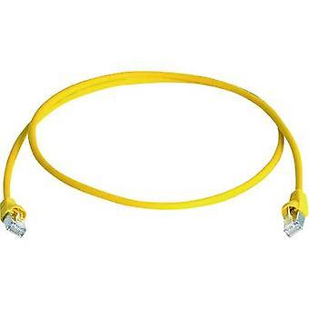 Telegärtner RJ45 Networks Cable CAT 6A S/FTP 50 m Yellow Flame-retardant, Halogen-free