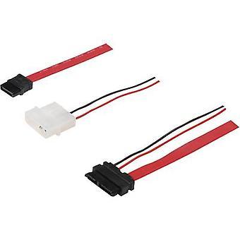 Digitus Hard drives Cable [1x SATA socket 7-pin - 1x Slimline SATA combo socket (7 +6 pin)] 0.50 m Red