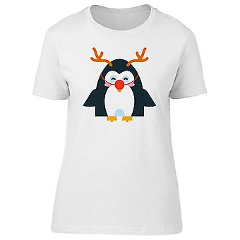 Penguin With Antlers Doodle Tee Women's -Image by Shutterstock