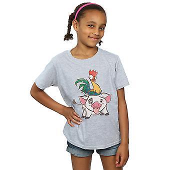 ディズニー女の子アラモアナ丙とプア t シャツ