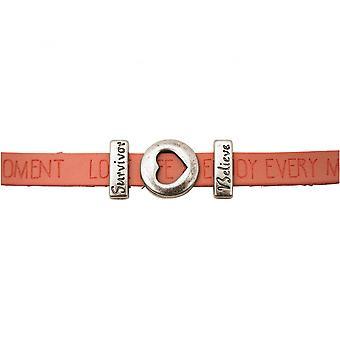 Women - bracelet - heart - love - WISHES - Pink - Pink - magnetic lock - survivor - believe