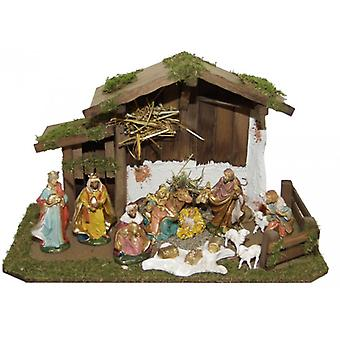 Krippe TIGRIS Holzkrippe Weihnachtskrippe Weihnachten Krippenstall