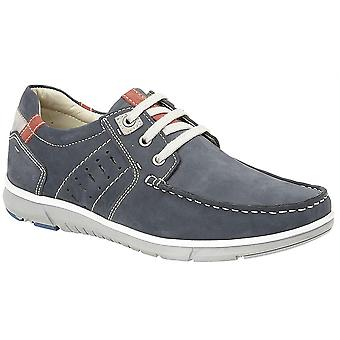 Mens Leather Nubuck Smart Leisure Lace Up Lightweight Casual Boat Shoes