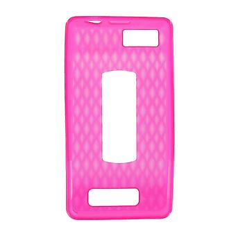 OEM Verizon High Gloss Silicone Case for Motorola Droid X2 MB870 (Pink) (Bulk Pa