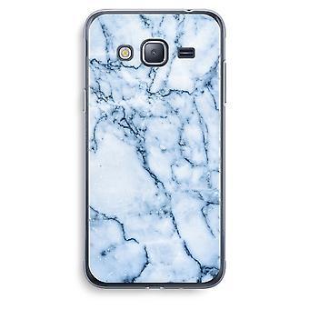 Samsung Galaxy J3 2016 caso transparente (Soft) - mármore azul
