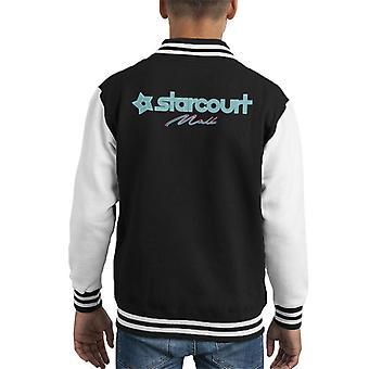 Neon Stranger Things Starcourt Mall Hawkins Kid's Varsity Jacket