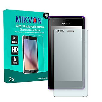 Sony Xperia C1905 Screen Protector - Mikvon Clear (Retail Package with accessories)