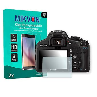 Canon EOS Kiss X4 Screen Protector - Mikvon Clear (Retail Package with accessories)