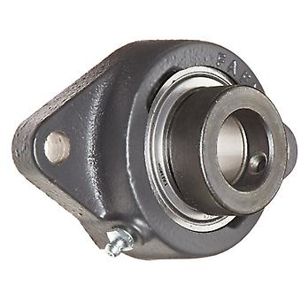 Timken RCJT1 1/4 Flange Unit, 2 Bolt Holes, Industrial-Duty, Relubricatable, Non-Expansion, Cast Iron, Eccentric Locking