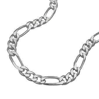 Chain 5mm Figaro flat 925 Silver 60cm