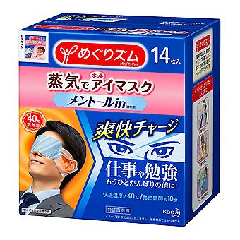 Kao Megrhythm Steam Eye Mask Mint for Men 14 Pieces