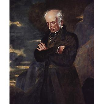 Wordsworth op Helvellyn, Benjamin Robert Haydon, 50x40cm