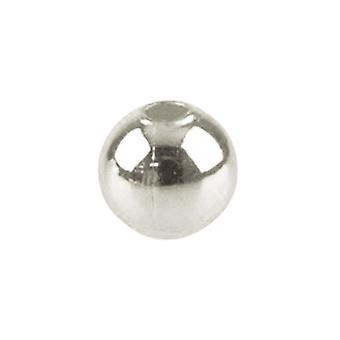 Paquete 400 + hierro de plata 4 mm redondo espaciador granos HA02590