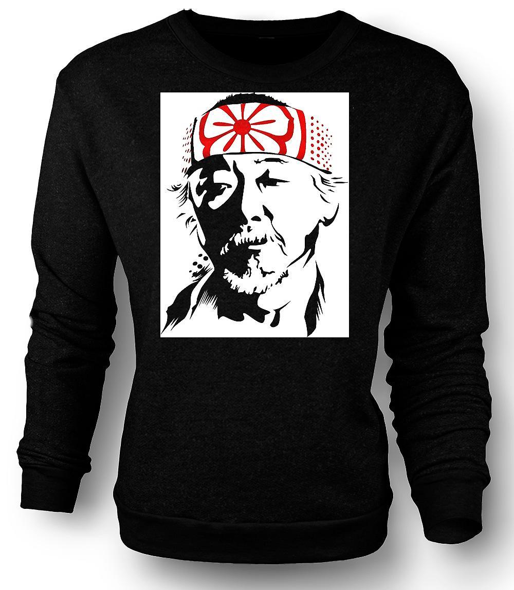 Mens Sweatshirt Karate Kid Mr Miyagi - Portrait
