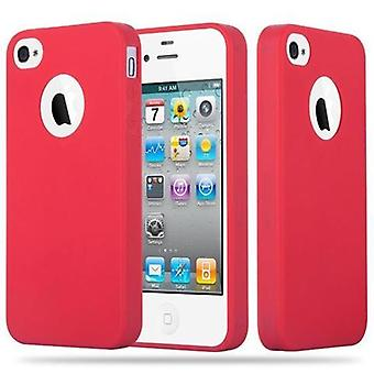 Cadorabo case for Apple iPhone 4 / iPhone 4S - mobile case TPU silicone candy design - silicone case cover ultra slim soft back cover case bumper