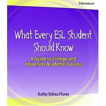 Ce que chaque élève ESL devrait savoir: Un Guide pour la réussite scolaire collégial et universitaire