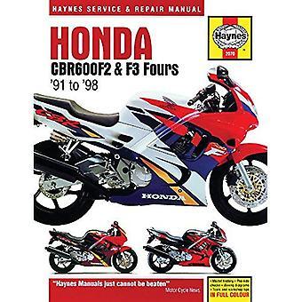 Honda CBR600F2 & F3 Fours moto Repair Manual: 91-98 (Haynes Service & manuel de réparation)