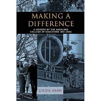Att göra skillnad: en historia av utbildningens Auckland College, 1881-2004