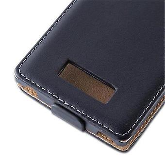 القضية كادورابو لل جي اوبتيموس L7 في الكافيار الأسود-القضية في تصميم الوجه من جلد الفن السلس--تغطية حالة الأكمام الحقيبة حقيبة الكتاب نمط Klapp