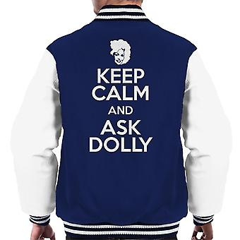 Keep Calm And Ask Dolly Men's Varsity Jacket