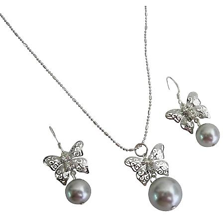 Prom Lite Gray Silver Jewelry Shimmer Sparkling Descent Jewelry