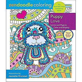 Zendoodle Färbung: Puppy Love: Lovestruck Welpen zu Farbe und Display